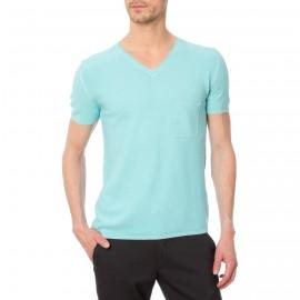 T shirt col V pour homme coton soie Douglas