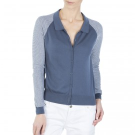 Gilet bicolore manches longues Firmine