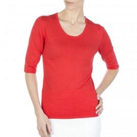 T-shirt manches coudes laine et soie Frédérique