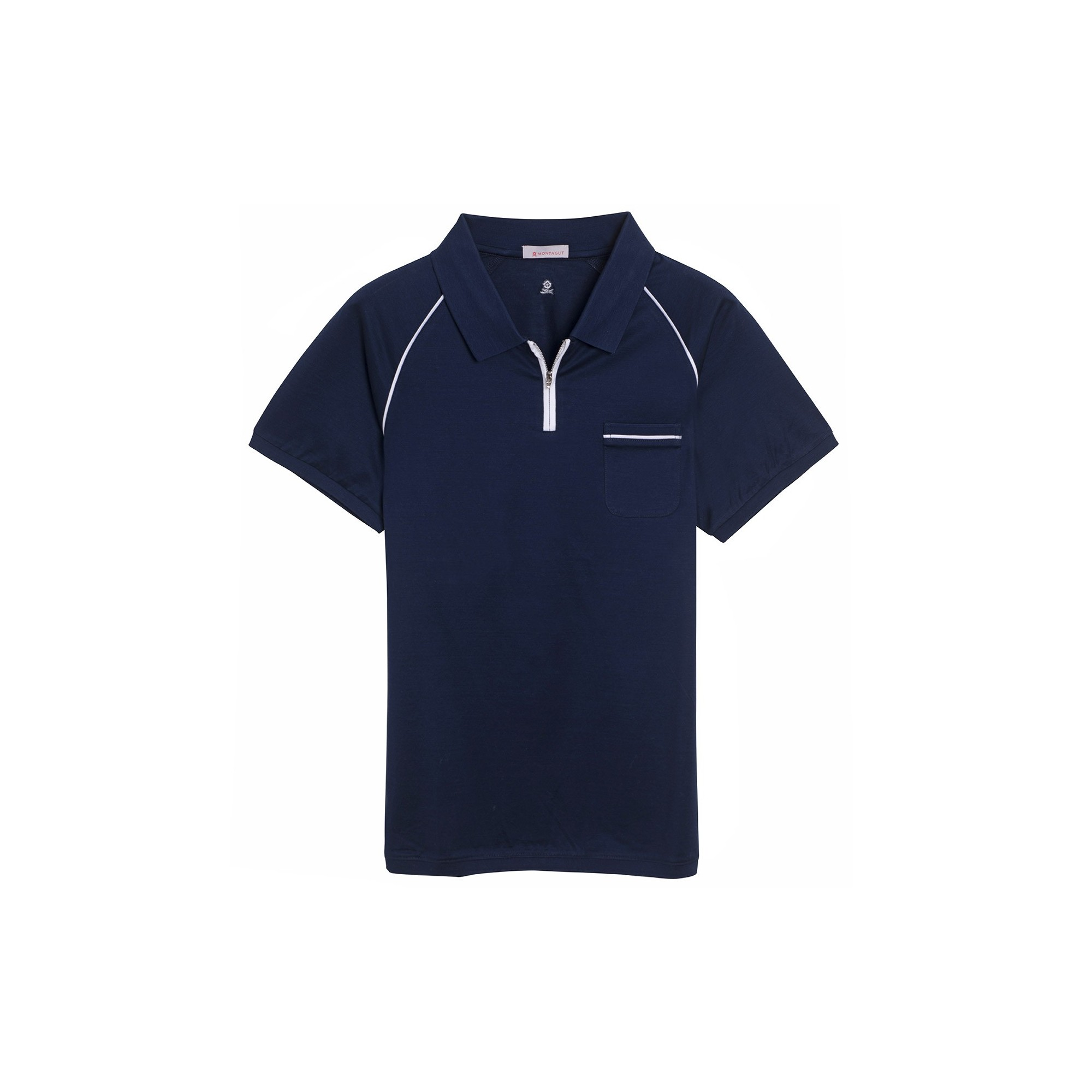 Man zipped collar with pocket fernando for Polo t shirts with pocket online