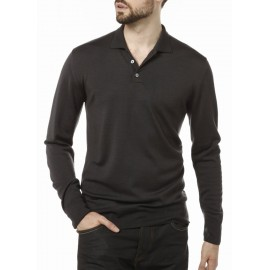 Pull col polo en laine Abel