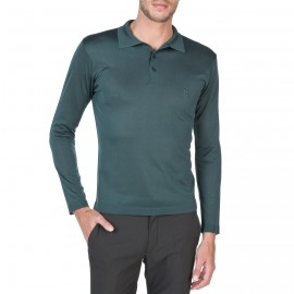 Long sleeves  polo made of Fil lumière Charles