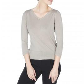 Woman tshirt silk and linen Flora