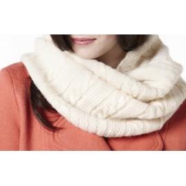 Echarpe tube en laine et alpaga Adeline