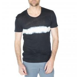 T-shirt homme à motif en lin et coton Haris