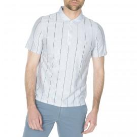 Männer-Polo gestreift mit Logo 100% Baumwolle Hakan
