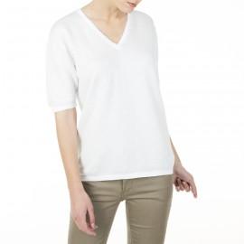T-shirt coton motif bi-colore Hadda