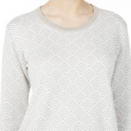 Pull coton motif bi-colore Hallison