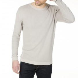 Pull col rond homme soie lin Hippolyte