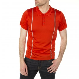 Man polo shirt with two colors and stripes Hayden