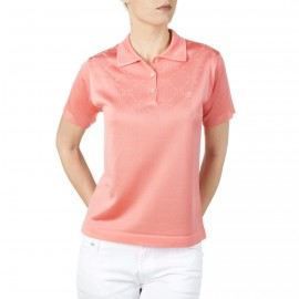 Woman polo shirt made of Fil Lumière Ines