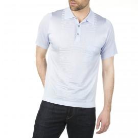 Herren Poloshirt aus Fil Lumière geometrisches Design Isaac