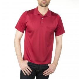 Herren Poloshirt aus Fil Lumière mit Rautendesign Ivan