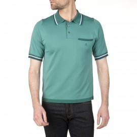 Poloshirt mit zweifarbigem Kragen und Tasche Ian
