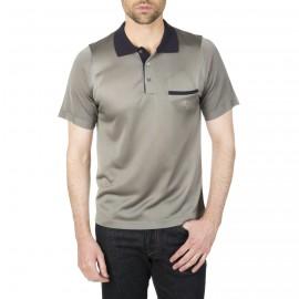 Zweifarbiges Poloshirt aus Fil Lumière Ilario