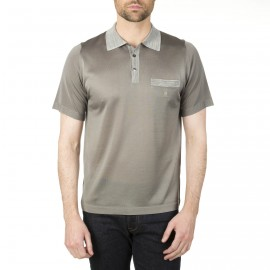 Poloshirt mit ausgefallenem Kragen aus Fil Lumière Inacio