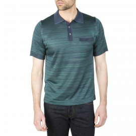 Poloshirt, zweifarbig gestreift aus Fil Lumière Ismet