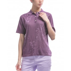 Women's Fil Lumière polo-shirt with flower pattern Kamilla