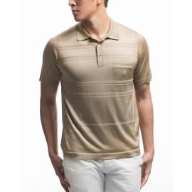 Men's irregular horizontal stripe pattern Fil Lumière polo-shirt Karl