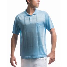 Men's cross stripe pattern Fil Lumière polo-shirt Korentin
