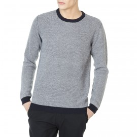 Pull col rond bicolore Joanis