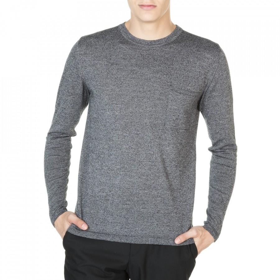 T-shirt manches longues avec poche Jake 91002 5257 ombre chine - 10 gris foncé