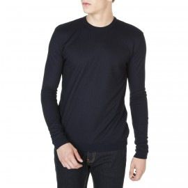 Rundhals Pullover mit Muster aus Fil Lumère Jany