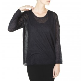 T-shirt en laine et viscose brillante Janina