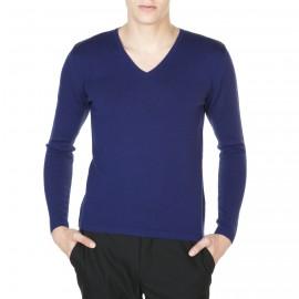 Pullover mit V-Ausschnitt aus 100% Wolle Emilien