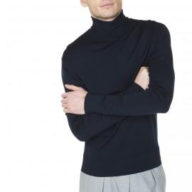 Pull col roulé en laine avec logo à la hanche Joshua