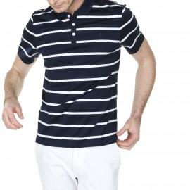 Polo getreift mit Logo 100% Baumwolle Hélie