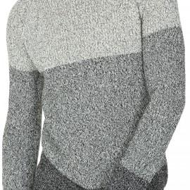 Pullover mit Halsausschnitt aus melierter Baumwolle Léandre