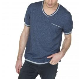 T-shirt en coton effet denim Lilian