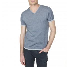 T-shirt col V en coton Ludovic