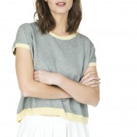 T-shirt manches courtes en coton laine Laurence