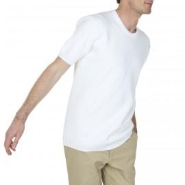 Sweat manches courtes en coton Léonce