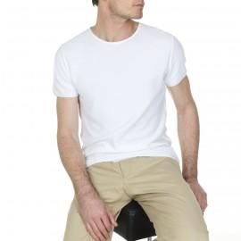 Camiseta de manga corta, hecha de algodón Léo