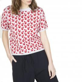 T-shirt à motif en coton Léopoldine