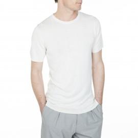 T-shirt fantaisie en soie et lin Louis