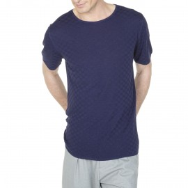 Fancy square stitch t-shirt made with silk Léonarde lin Kevin