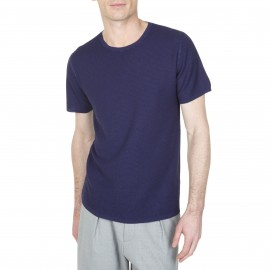 T-shirt col rond en soie lin Lilouan