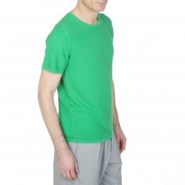 T-Shirt mit rundem Ausschnitt aus Seide und Leinen Lilouan