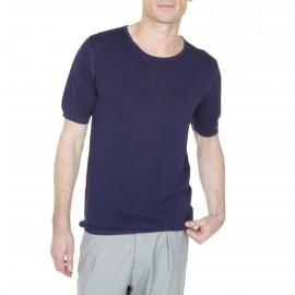Camiseta de seda y lino Lambert