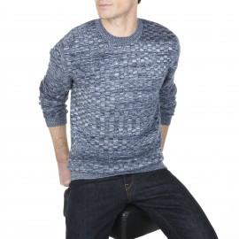 Pullover mit Halsausschnitt aus Wolle und Baumwolle Lucas
