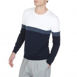 Suéter hecho de algodón y con lana en el cuello Luc