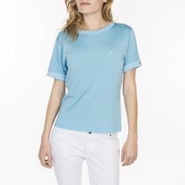 T-shirt uni manches fantaisie en Fil Lumière Laurie