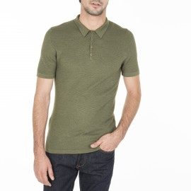 Short sleeved polo shirt in wool and silk  Manuel