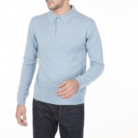Pull col polo en cachemire Charlie