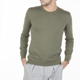 Quilted cotton cashmere sweater Miguel