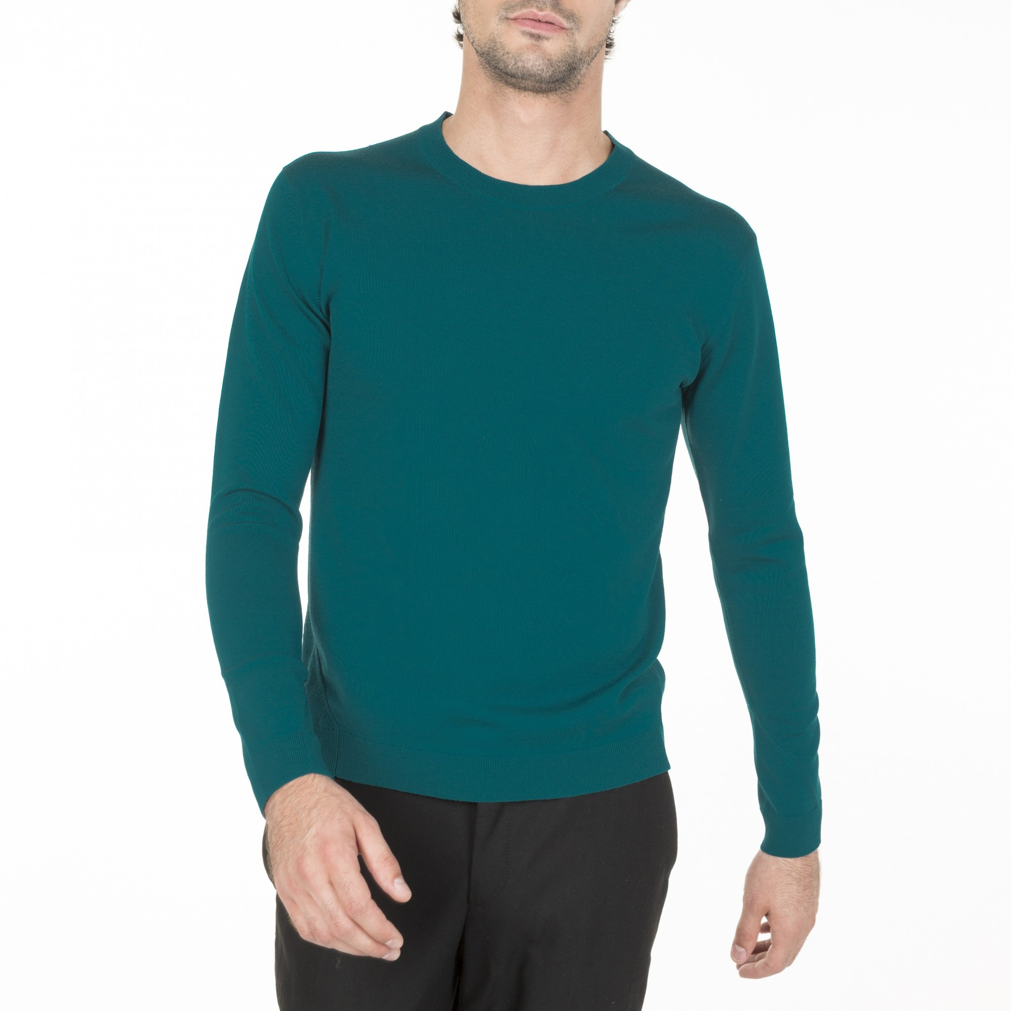 pull ras de cou en laine pour homme manches longues. Black Bedroom Furniture Sets. Home Design Ideas